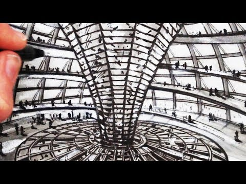 How to Draw The Reichstag Building: Architecture
