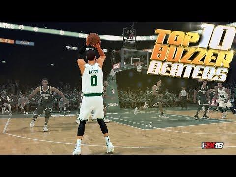 TOP 10 BUZZER BEATERS & Game Winning Shots - NBA 2K18 Highlights