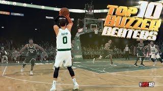 TOP 10 BUZZER BEATERS & Game Winning Shots - NBA 2K18 Highlights