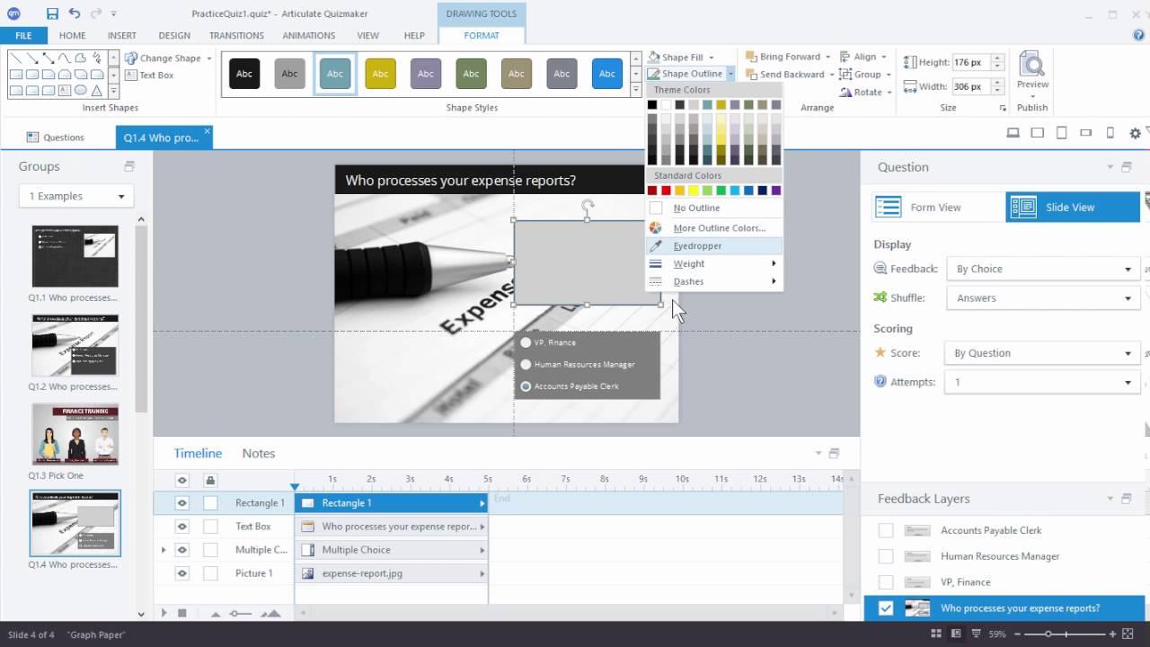 Quizmaker 360: Designing Quiz Questions in Slide View - Articulate