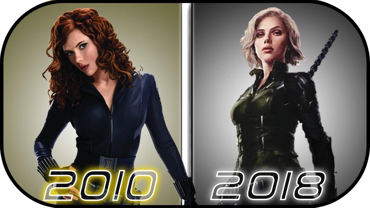 Evolution Of Black Widow In Movies 2010 2018 Natasha Romanoff History In Avengers Infinity War