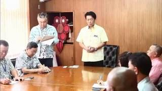 2017年石垣島訪問のJICA一行を迎える市長