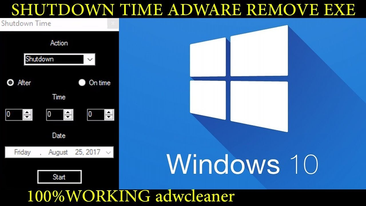 Shutdown Time | ShutdownTime.exe | adware fully removed |how to remove shutdown time adware