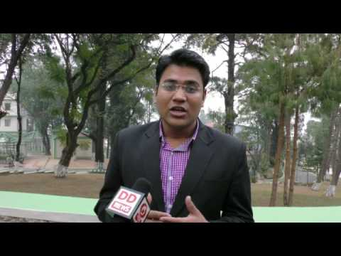 Girraj Goyal from IIM Shillong on DD News