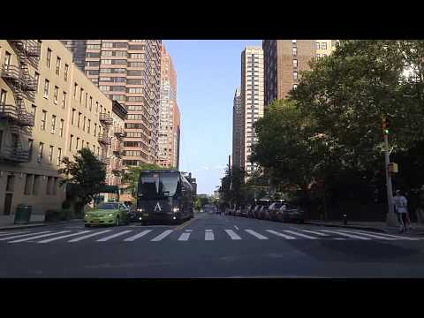 Driving from Carnegie Hill in Manhattan to Mott Haven ti the Bronx,New York