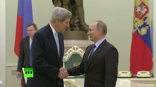 Владимир Путин встретился с Джоном Керри в Кремле