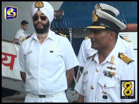 Indian aircraft carrier visits Colombo - Live at 8 News