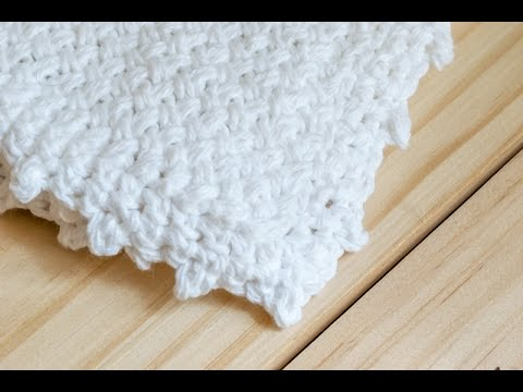How To: Diagonal Basket Weave Knit Washcloth (Knit Side) - YouTube