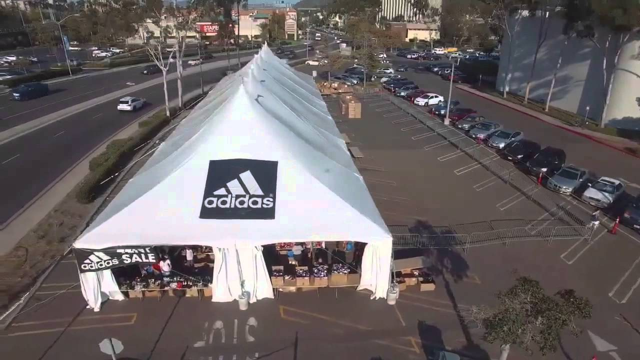 ADIDAS TENT SALE VIDEO I DID IN MISSION VALLEY MALL : adidas tent - memphite.com