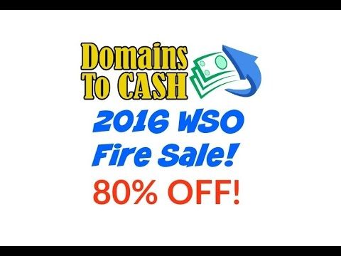 Domains To Cash Review 2016 WSO Firesale - Best Domain Flipping Course