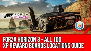 Forza Horizon 3 All 100 XP Reward Boards Locations Guide