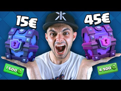 Thumbnail: COFRE SUPERMÁGICO 15€ VS. COFRE SUPERMÁGICO 45€ - CLASH ROYALE