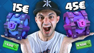 COFRE SUPERMÁGICO 15€ VS. COFRE SUPERMÁGICO 45€ - CLASH ROYALE