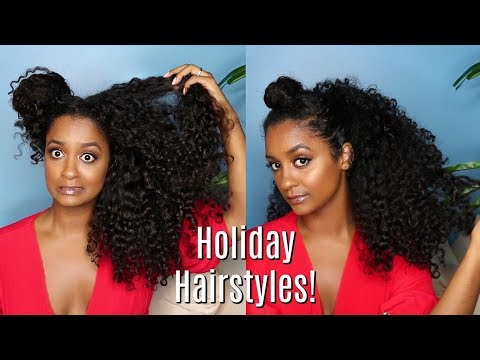 Holiday Curly Hairstyles 🎄| Affordable Products!