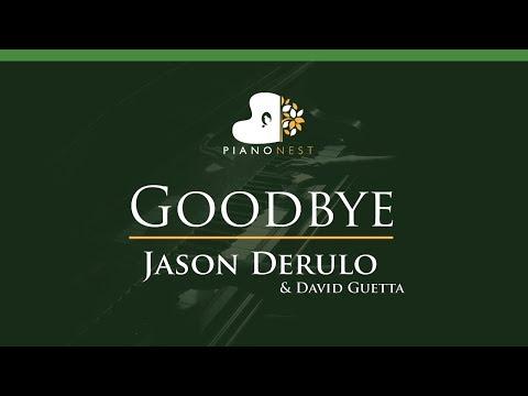 Jason Derulo X David Guetta - Goodbye Ft. Nicki Minaj - LOWER Key (Piano Karaoke / Sing Along)