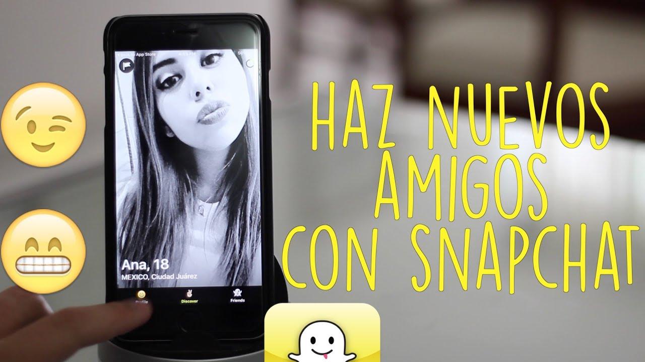 como conocer gente por snapchat