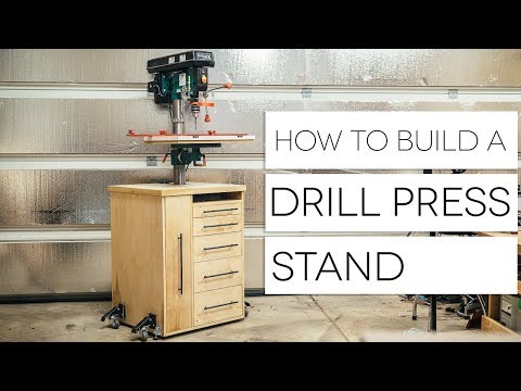 DIY Mobile Drill Press Stand || How To Build - Woodworking