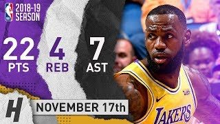 LeBron James Full Highlights Lakers vs Magic 2018.11.17 - 22 Pts, 7 Ast, 4 Rebounds!