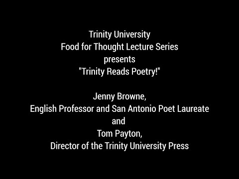 Trinity University Food For Thought Lecture Series -