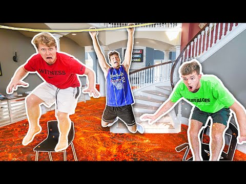 Extreme Mansion Floor Is LAVA - Challenge