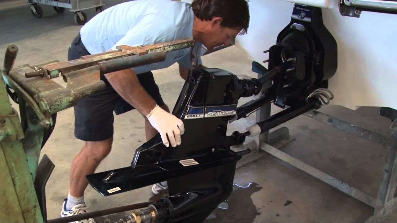 medium resolution of how to remove replace change mercruiser marine bravo stern drive marinepartsplus com youtube