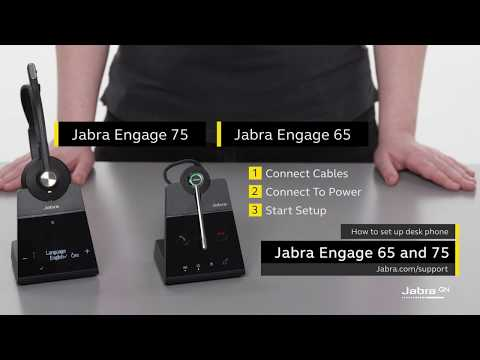 How To Set Up Jabra Engage With A Desk Phone Youtube