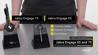 How to set up Jabra Engage with a desk phone