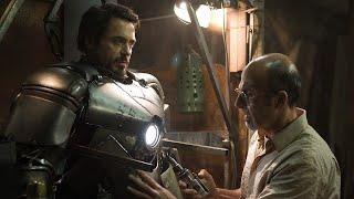 Тони Старк создаёт броню железного человека Mark I.  Железный человек 2008.