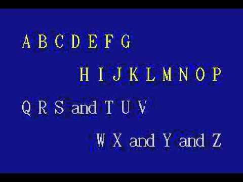 JVC18 03   Children's Songs   Alphabet Song, The [karaoke]