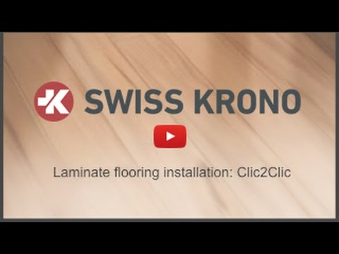 Laminate Flooring Installation For Clic2clic By Swiss Krono Youtube