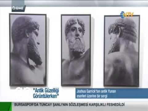 J. Garrick's interview on NTV - Gece Gündüz - about his exhibition in Sismanoglio Megaro