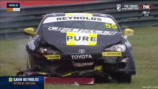 Toyota 86 Racing Series 2018. Race 1 Sandown Raceway. Gavin Reynolds Hard Crash