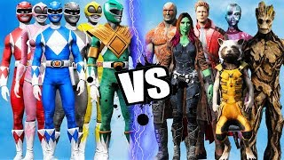 MIGHTY MORPHIN POWER RANGERS vs GUARDIANS OF THE GALAXY - Epic battle