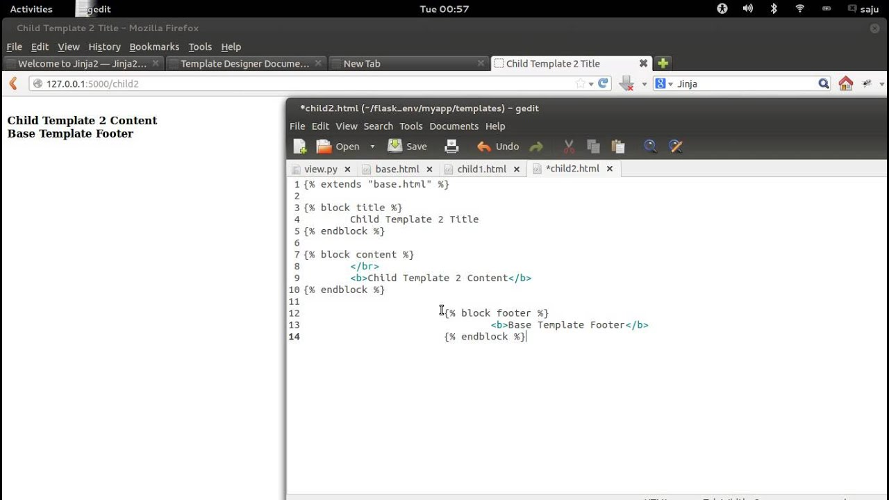 Python Flask Tutorial Part 7 - Jinja Template Inheritance - YouTube