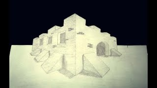 3D Trick Art How to Draw a House in Two Point Perspective: Gaming House