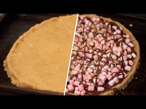 Smores Pizza- Easter Leftover Hacks- Buzzfeed Test #70