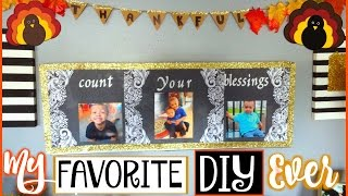 THANKSGIVING WALL ART DIY | COUNT YOUR BLESSINGS CRAFT | SENSATIONALFINDS