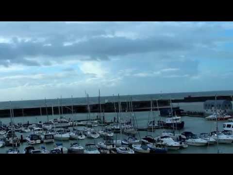 Brighton Marina - Rough Weather! VHF Radio Coastguard Weather Forecast
