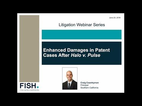 Webinar | Enhanced Damages in Patent Cases After Halo v. Pulse