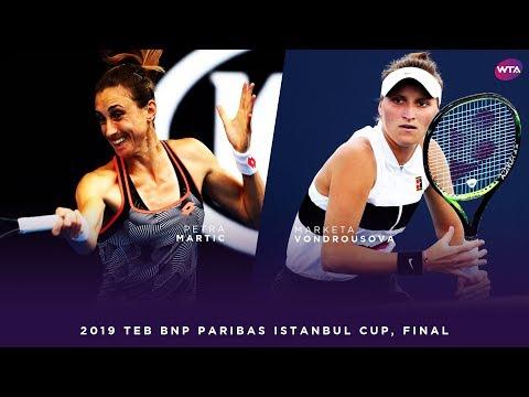 Marketa Vondrousova vs. Petra Martic   2019 TEB BNP Paribas Istanbul Cup Final