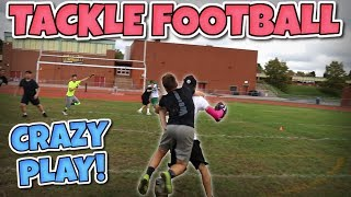 WORLD'S MOST ENTERTAINING BACK YARD TACKLE FOOTBALL GAME #2!! (IRL FOOTBALL MATCH)