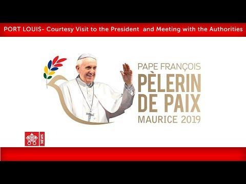 Pope Francis-Port Louis-Departure Ceremony 2019-09-09