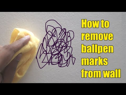 How to remove ball pen marks from wall
