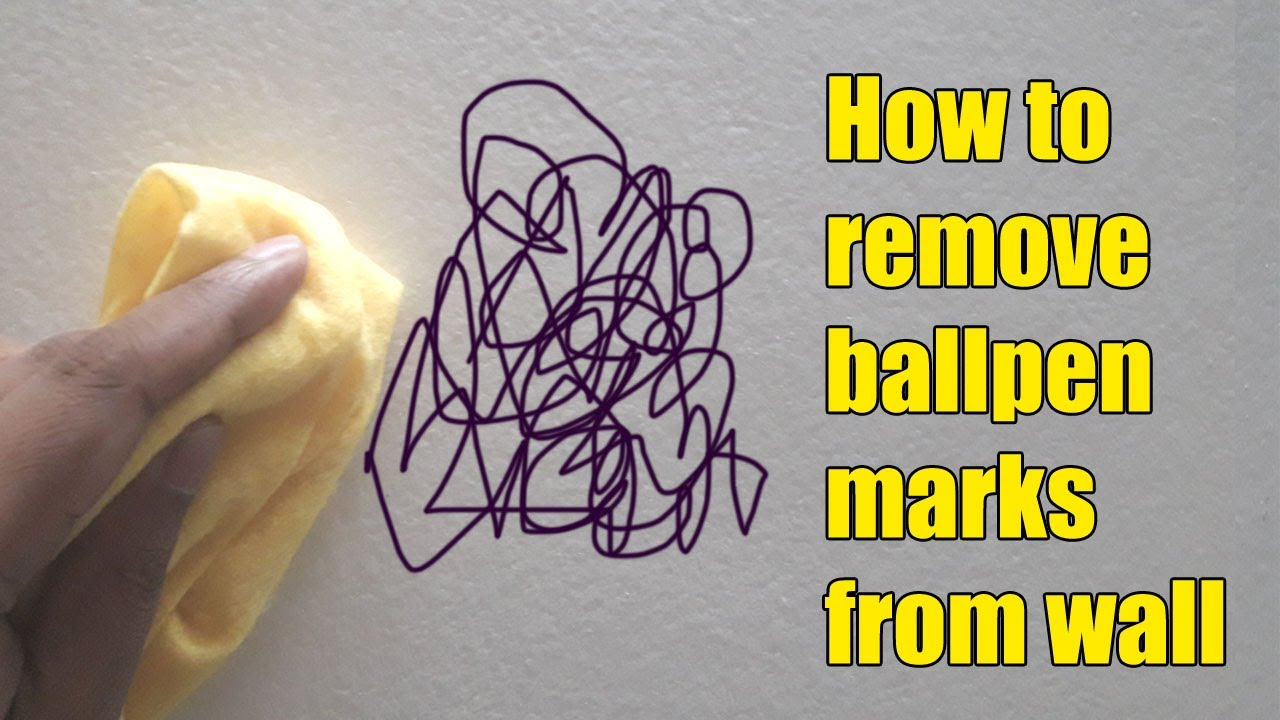 how to remove ball pen marks from wall - How To Remove Stains From Walls