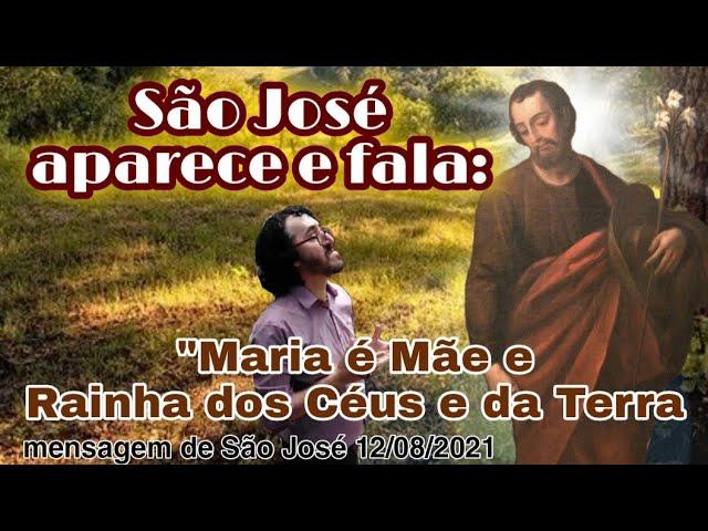 Messaggio di São José a Fratel Eduardo Ferreira il 12/08/2021 a São José dos Pinhais, PR