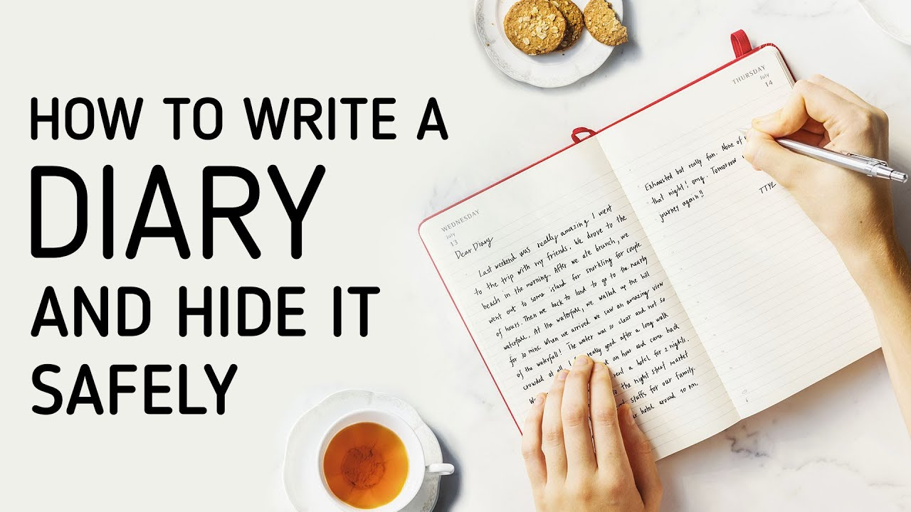 how to write hide a diary