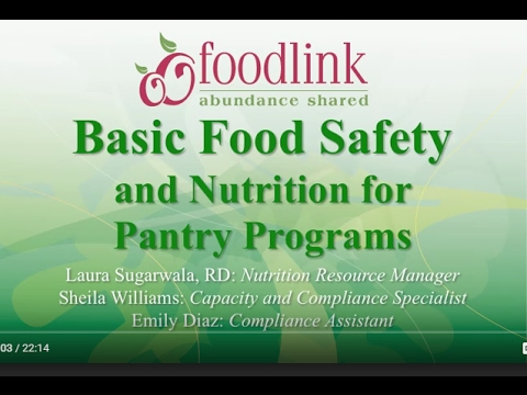 Basic Food Safety - Pantry Programs