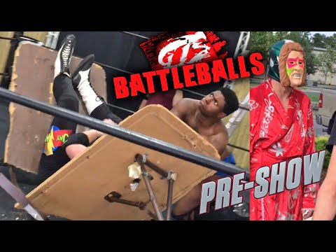 SWANTON BOMB THROUGH A TABLE! GTS BATTLEBALLS PPV PRE SHOW P