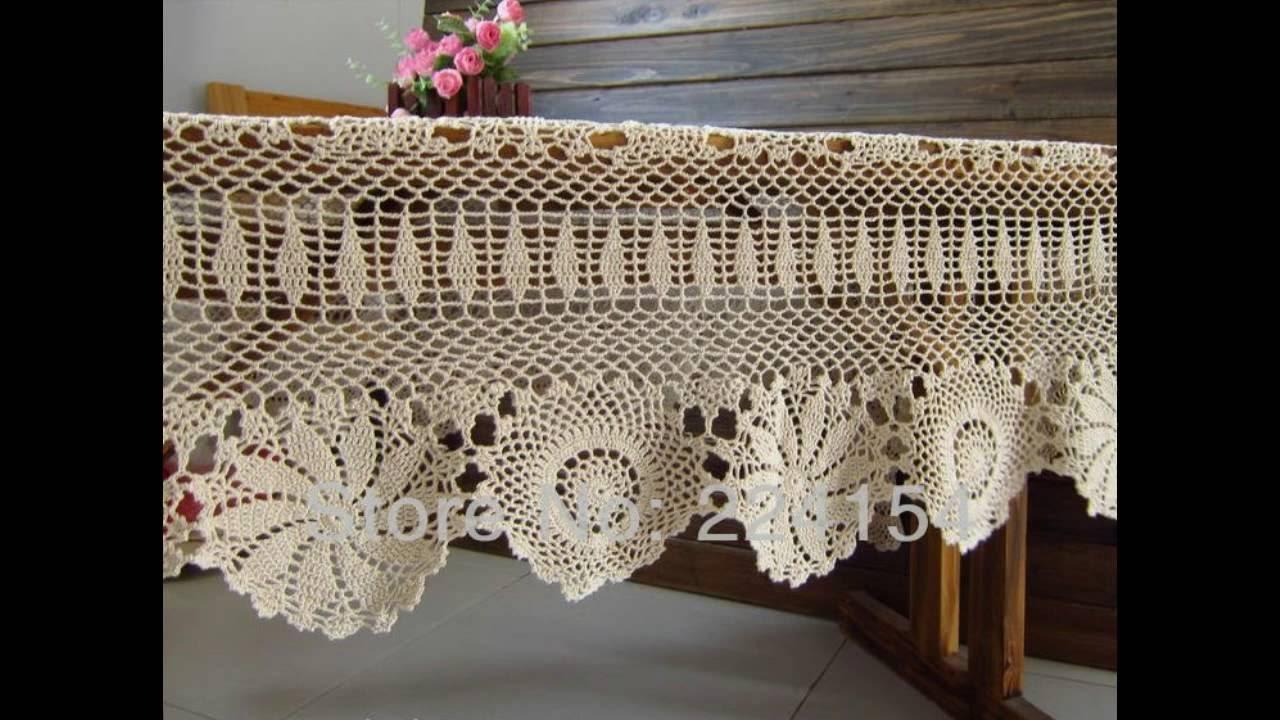 Manteles para mesas en lanas y hilos tejidos a crochet for Manteles para mesa