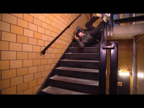 Hollywood Stuntman Shares The Best Way To Fall Down The Stairs